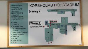 Infotavla, Korsholms högstadium.