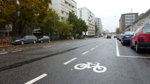 En cykelväg i Åbo.