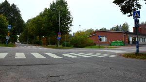 Korsningen av Bulevarden och Torggatan i Karis.