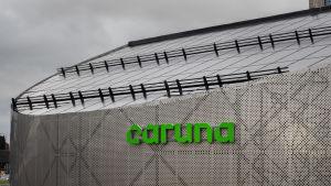 Sähköverkkoyhtiö Carunan rakennus Espoon Keilaniemessä.