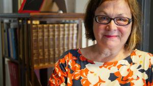 Pia Ahlbäck, litteraturvetare och Orwell-kännare på Åbo Akademi.