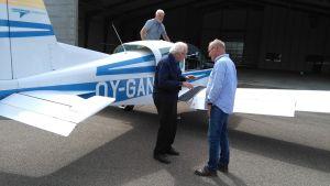 Mogens Riis ordnade en flygtur i ett fyrsitsigt plan för Bruno Österlund, 92 år