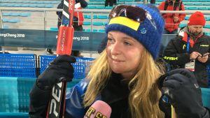 Mona Brorsson tävlar för Sverige vid OS i Pyeongchang.