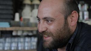 Den tunisiska lokalvalskandidaten Mohamed Raed Besbes från Monastir.