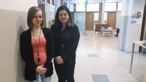 Heidi Backa och Monica Nyfors.