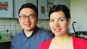 Vladimir och Julija Li blir föräldrar i juli.