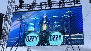 Ozzy Osbournes trummis Tommy Clufetos 6.6.2018.