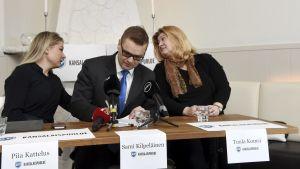 Piia Kattelus, Sami Kilpeläinen och Tuula Komsi valdes till Medborgarpartiets styrelse i mars 2018.