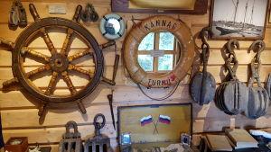 Sjöfartsgrejer på museum