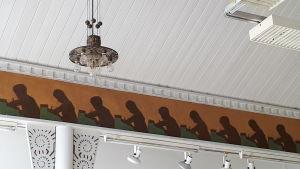 Detaljer i festsalen i Nordiska konstskolan i Karleby.