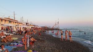 Strand i Sotji.