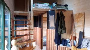 Loft och trappa i minihus