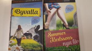 """Böckerna """"Byvalla"""" och """"Summer Karlssons nya liv""""."""