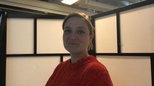 Bild på Amanda Birging från Allt för Alla Kvinnofront Stockholm.