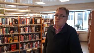 Biblioteksdirektör Leif Storbjörk i Jakobstad