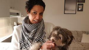 Bianca Iacoviello och hennes hund Coco