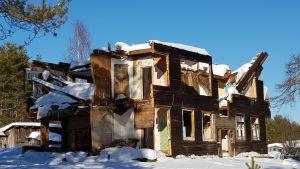 Nu finns det bara lite kvar av det här finska huset.
