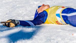 Iivo Niskanen pustar ut, VM 2019.
