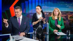 Valdebatt i Slovakien.