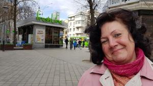Irina Djakova hoppas att ukrainska unga ska hitta jobb i hemlandet