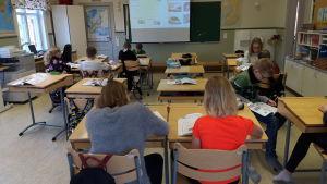 Klassrum i Påras skola.