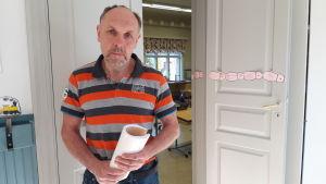 Johan Boholm rektor för Påras skola i Kronoby.