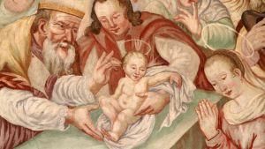 Målning av Jesu omskärelse.