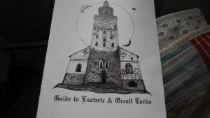 Teckning föreställande Åbo domkyrka
