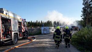 Brand på Söderfjärdsvägen i Malax.