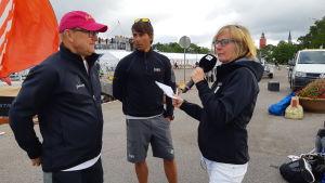 Denis Strandell, Christian Kamp och Tiina Grönroos.