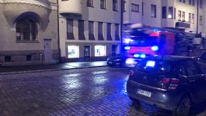 Brandbil i Kronohagen