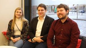 Barbara Gaardlykke Apol, Nicholas Kujala och Touko Niinimäki satt alla med i en panel som diskuterade jämställdhet i Norden tidigare i veckan.