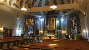 Interiör ur Nykarleby kyrka