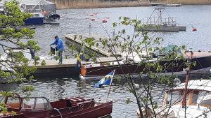 Veneilykauden alkua Tukholmassa huhtikuussa.