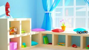 hyllor i barnrum