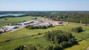 Flygbild av Läppområdet i Karis.