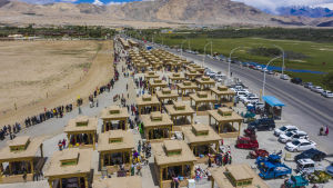 Vy över Xinjiang.
