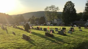 Begravningsplats i Susquehanna i Pennsylvania.