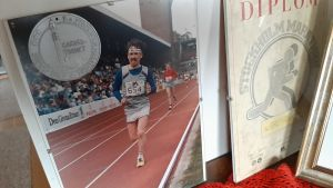 Leif Lindell löper maraton.