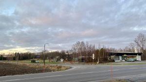 Korsningen av Sundomvägen och Kronviksvägen.