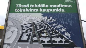 Nätholmens byggplaner på skylt