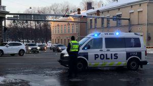 Trafikstockning vid Nylandsgatan