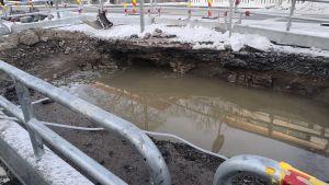 Vattenskada på Nylandsgatan