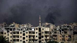 Bombning av den syriska staden al-Raqqa 14.8.2017.