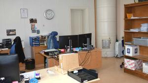 Ett kontor.