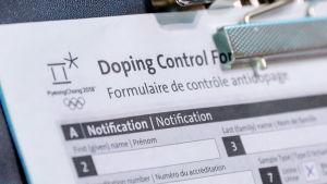 Dopningsformulär