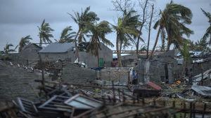 Förstörelse efter cyklonen idai i Moçambique.