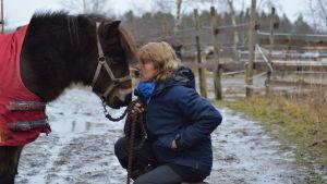 Sussy Bro på Bubblans ponnystall i Jakobstad.