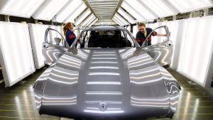 Mercedes-Benz tillverkades i Valmet Automotives fabrik.