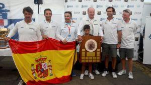 spanska ex-kungen Juan Carlos vann sexornas VM i Hangö.